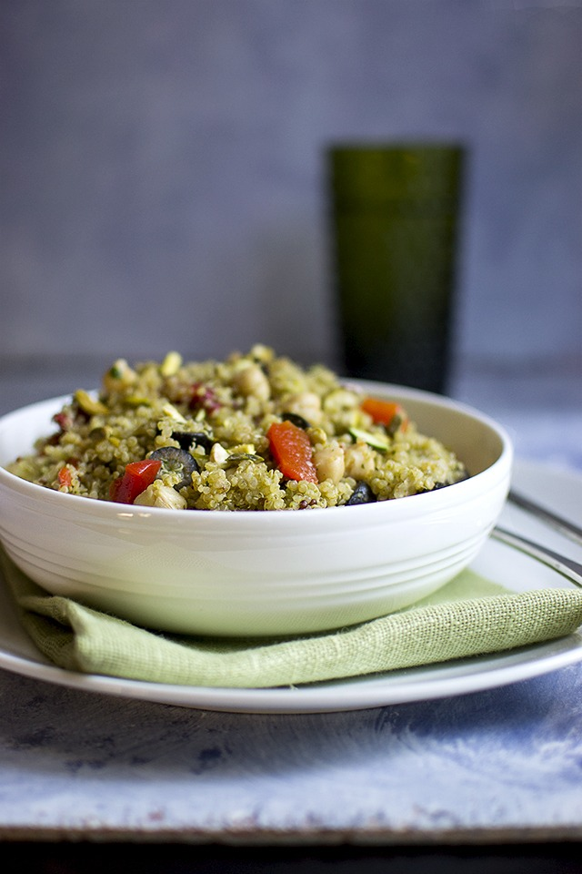 Quinoa & Pistachio Salad with Moroccan Pesto Recipe | HeyFood — heyfoodapp.com