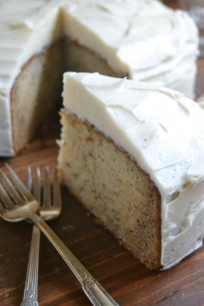 Banana Cake with Spiced Vanilla Buttercream Recipe | HeyFood — heyfoodapp.com