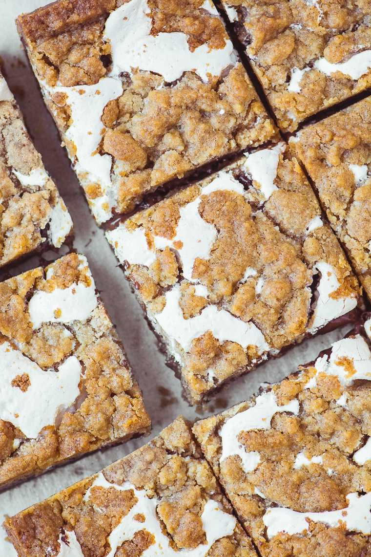 Nutella S'mores Bars Recipe | HeyFood — heyfoodapp.com