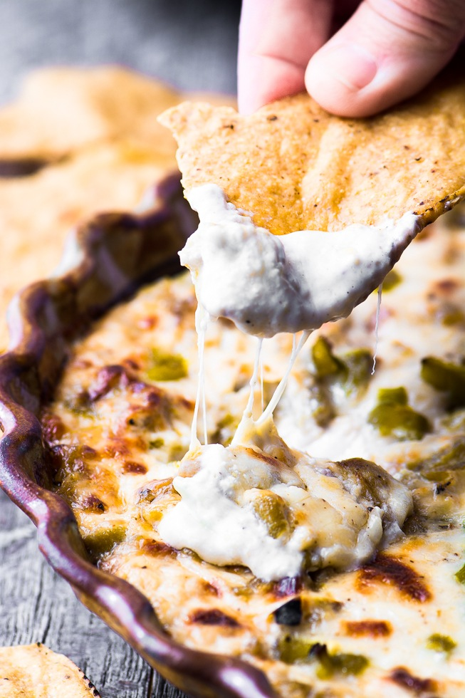 Cheesy Hatch Green Chile Dip Recipe | HeyFood — heyfoodapp.com
