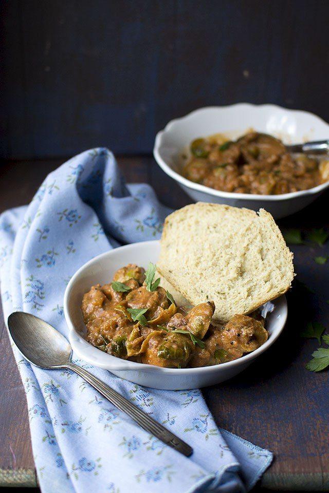 Creamy Brussel Sprouts Curry Recipe | HeyFood — heyfoodapp.com