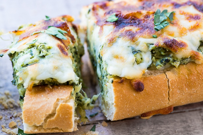 Cheesy Spinach Artichoke Bread Recipe | HeyFood — heyfoodapp.com