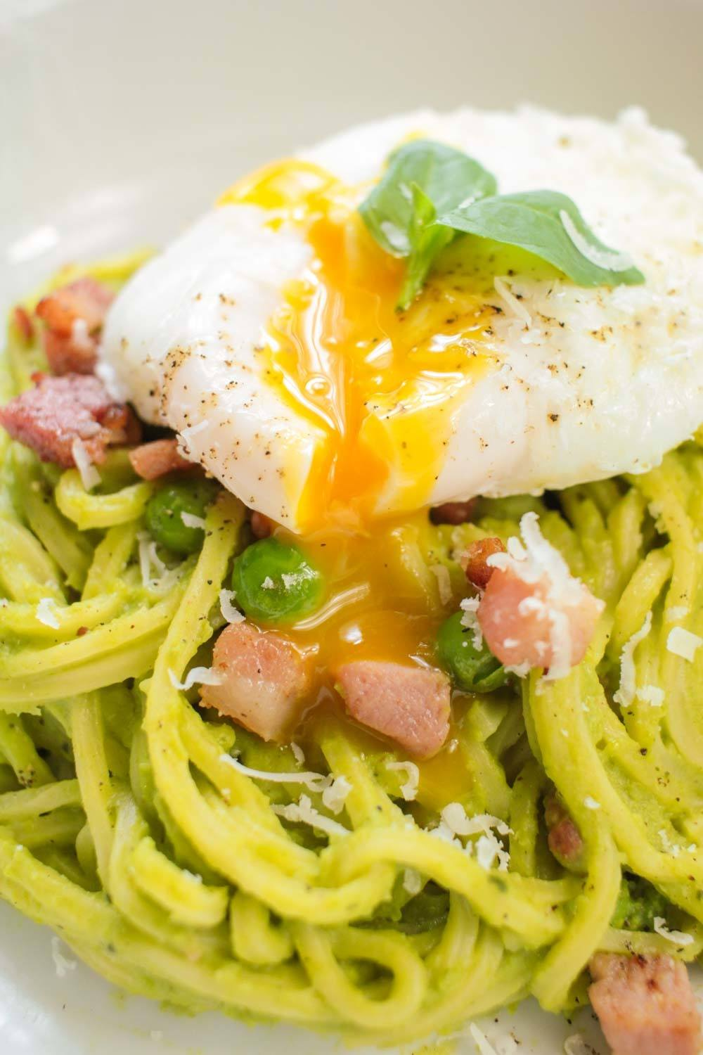 Pea and Pancetta Spaghetti Recipe | HeyFood — heyfoodapp.com