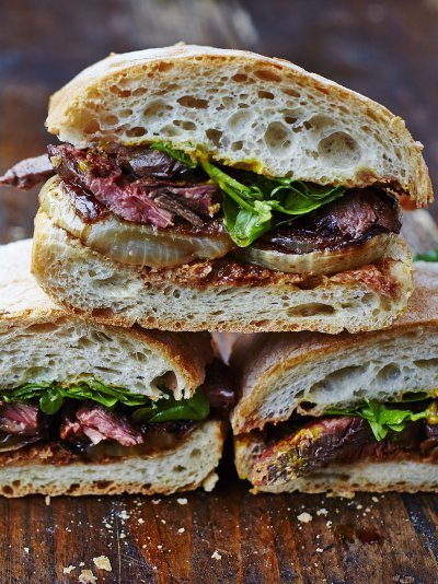 Next-level Steak & Onion Sandwich Recipe | HeyFood — heyfoodapp.com