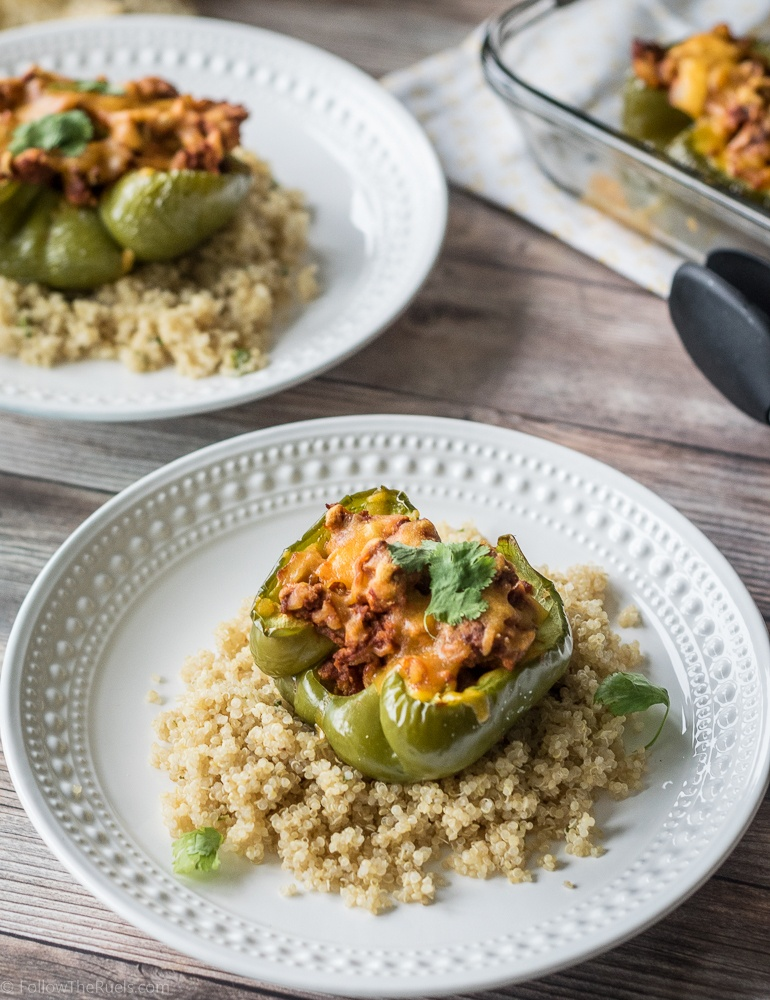 Chorizo Stuffed Bell Peppers Recipe | HeyFood — heyfoodapp.com