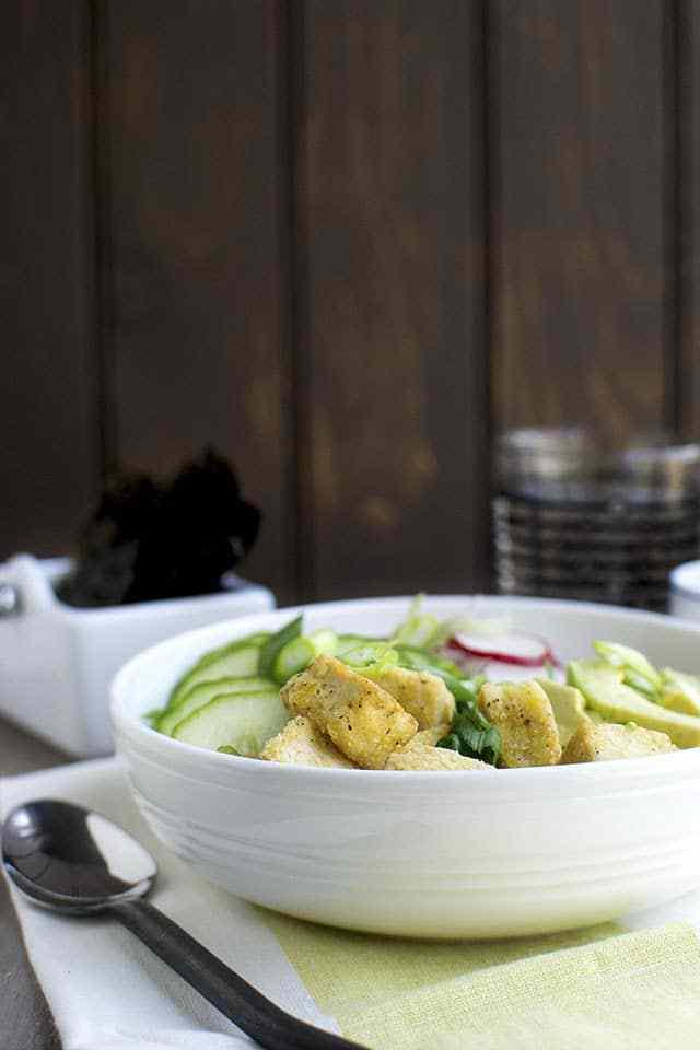 Brown Rice Bowl with Tofu & Veggies Recipe   HeyFood — heyfoodapp.com