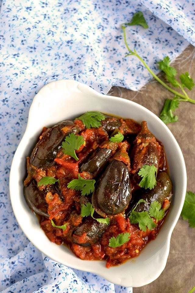 Muvva Vankaya Kura (Baby Eggplant Curry) Recipe | HeyFood — heyfoodapp.com