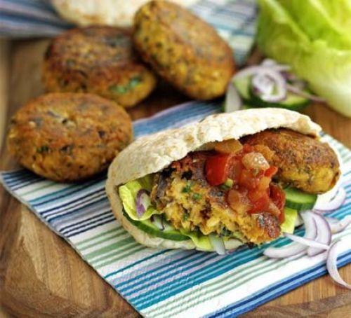 Falafel Burgers Recipe | HeyFood — heyfoodapp.com