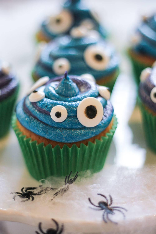 Slime Monster Cupcakes Recipe | HeyFood — heyfoodapp.com