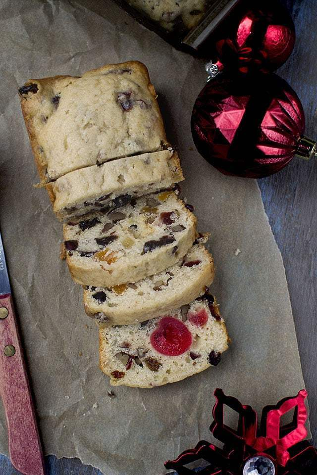 Orange-Cranberry Nut Fruitcake Recipe | HeyFood — heyfoodapp.com