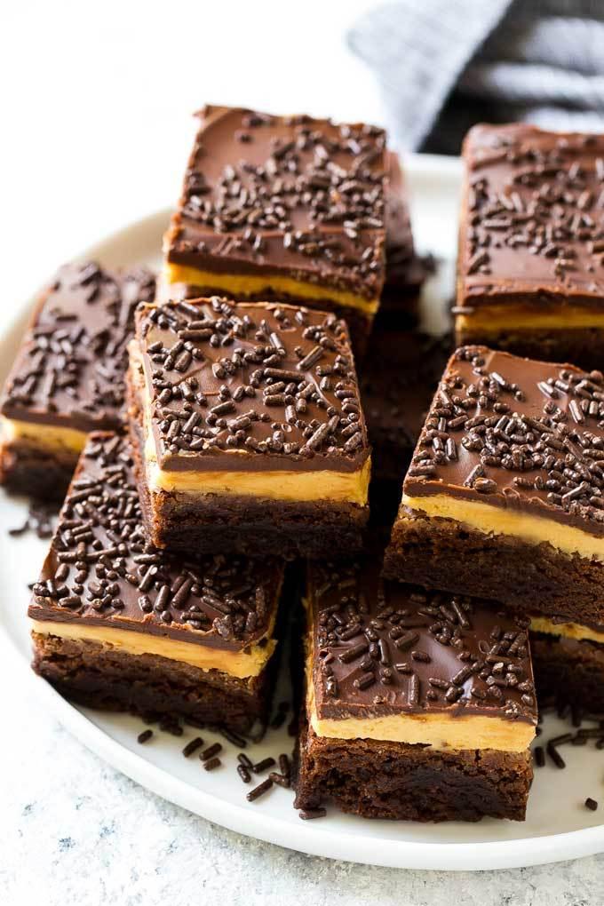 Peanut Butter Brownies Recipe | HeyFood — heyfoodapp.com