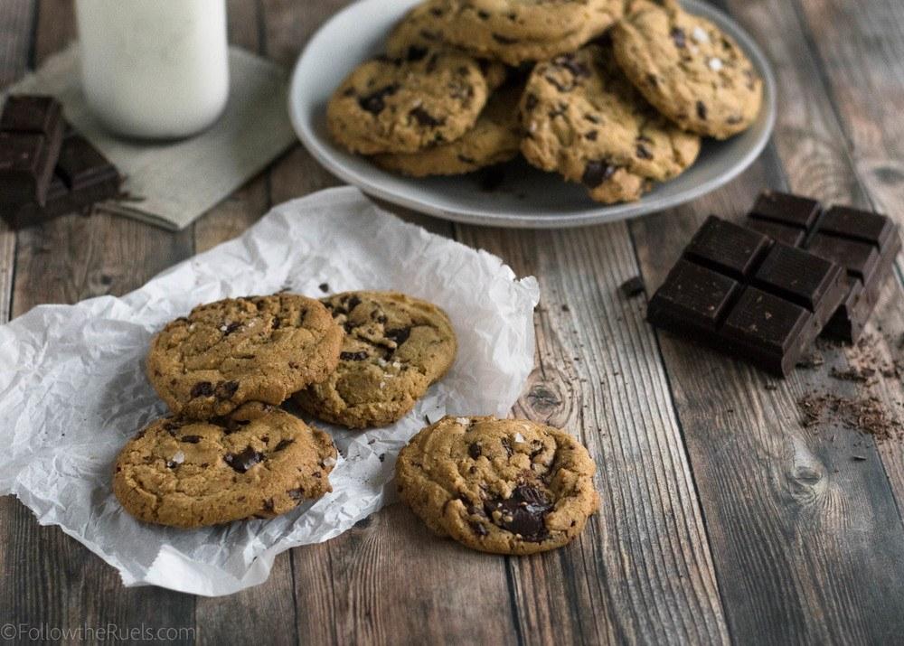 Brown Butter Dark Chocolate Chunk Cookies Recipe   HeyFood — heyfoodapp.com