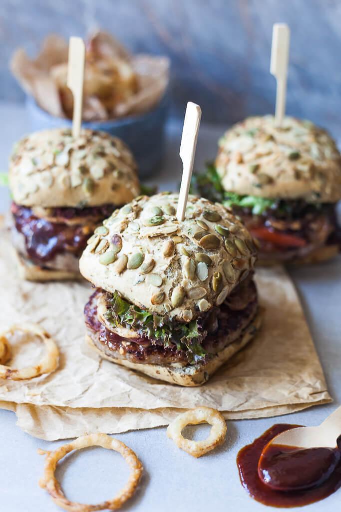 Beer Braised Onion Burgers Recipe   HeyFood — heyfoodapp.com