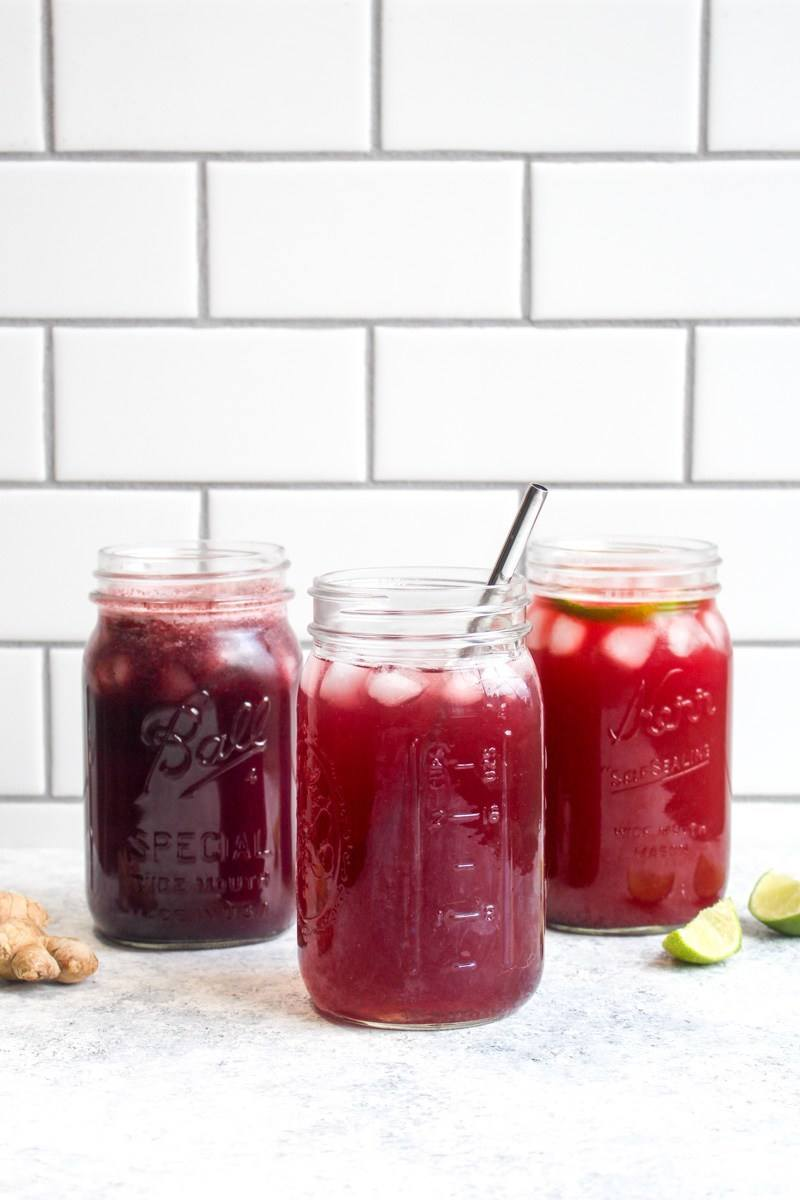 Blueberry Ginger ACV Detox Drink Recipe | HeyFood — heyfoodapp.com