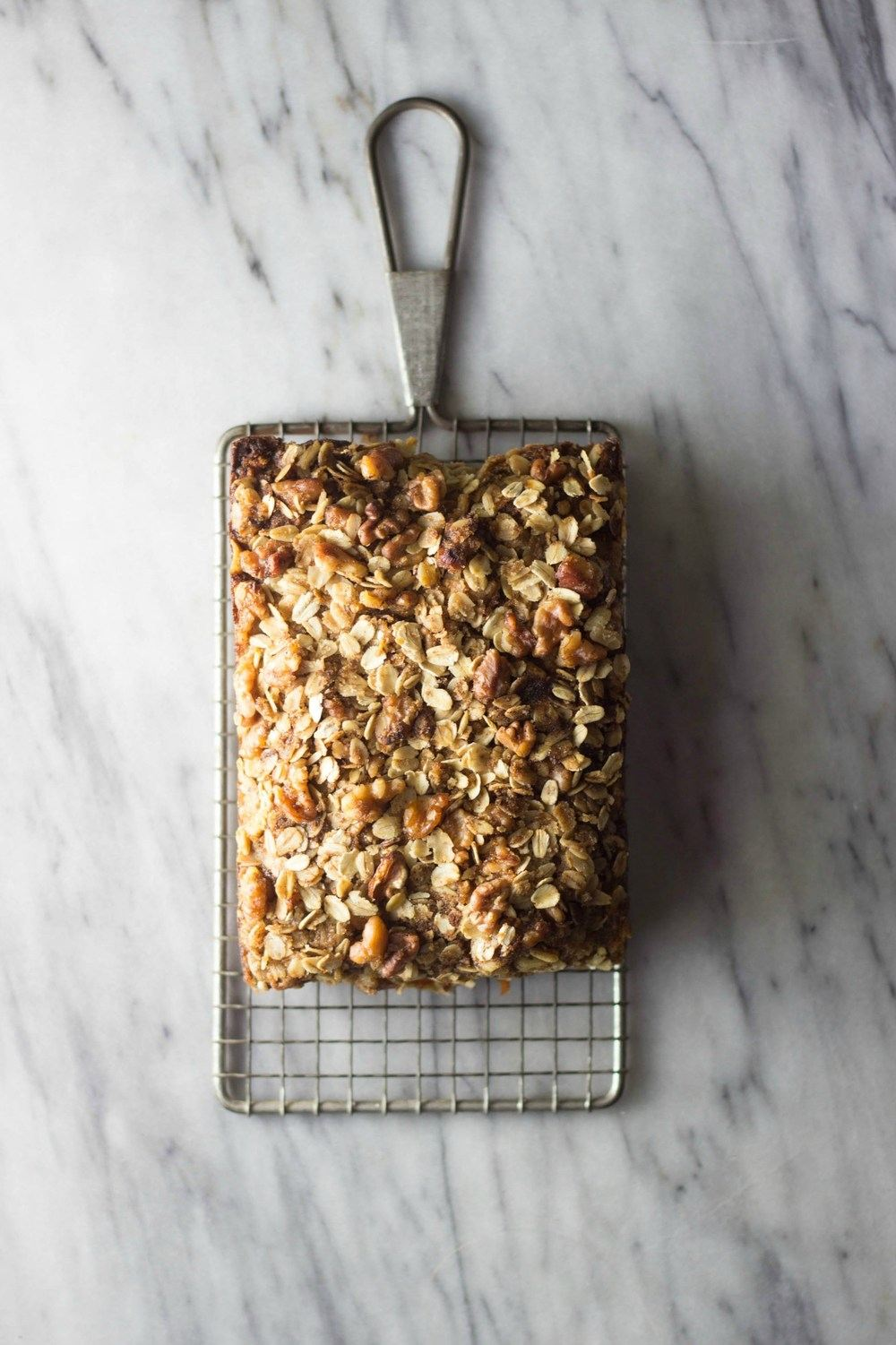 Carrot, Apple & Walnut Streusel Bread Recipe | HeyFood — heyfoodapp.com