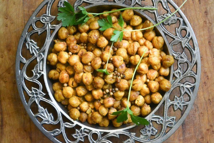 Tandoori Roasted Chickpeas Recipe | HeyFood — heyfoodapp.com