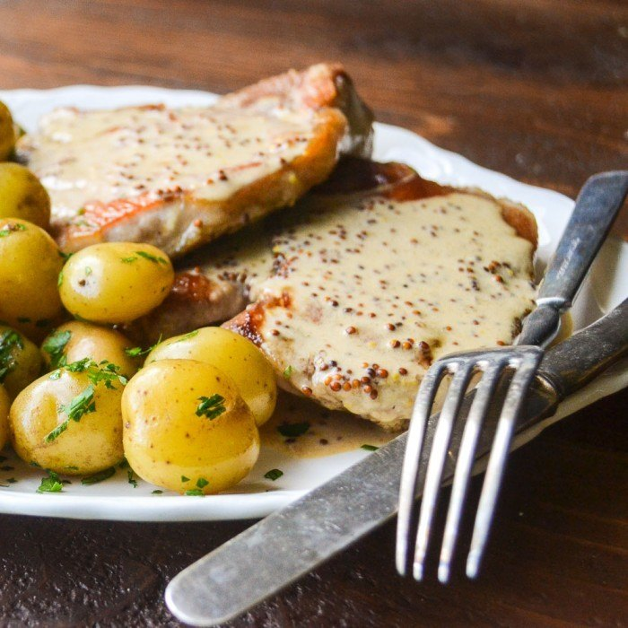 Mustard Pork Chops Recipe | HeyFood — heyfoodapp.com