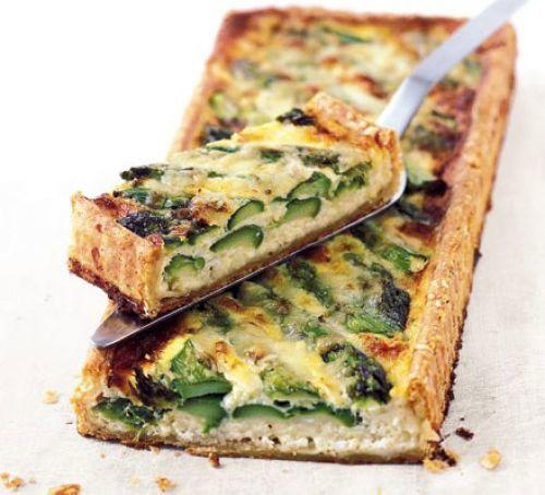 Asparagus & Cheese Tart Recipe | HeyFood — heyfoodapp.com