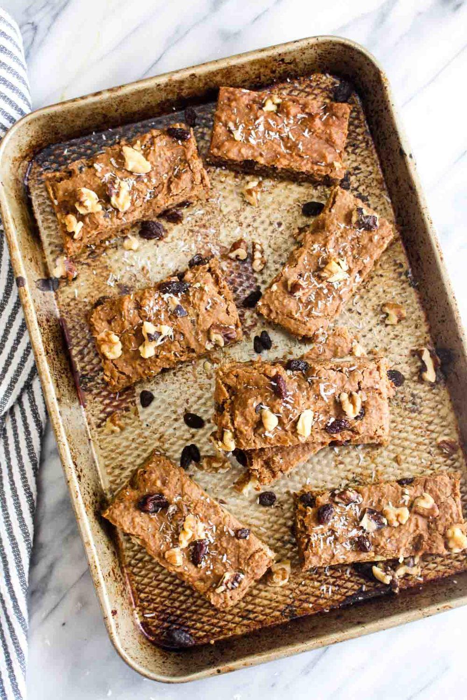 Healthy Carrot Cake Bars Recipe   HeyFood — heyfoodapp.com