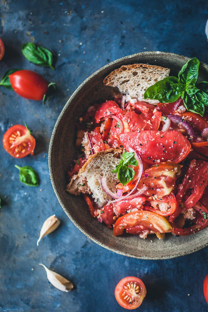 Panzanella Bread and Tomato Salad Recipe | HeyFood — heyfoodapp.com