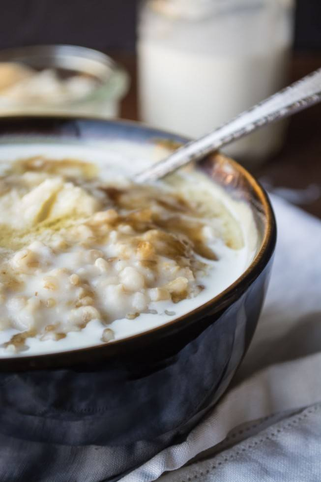 Overnight Steel Cut Oats with Whiskey Butter Recipe | HeyFood — heyfoodapp.com