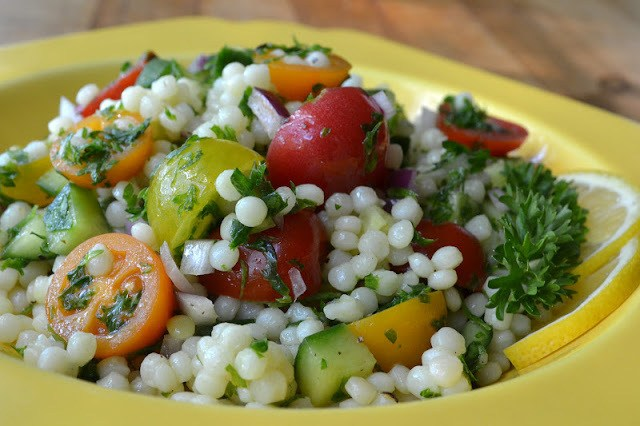 Mediterranean Couscous Salad Recipe | HeyFood — heyfoodapp.com