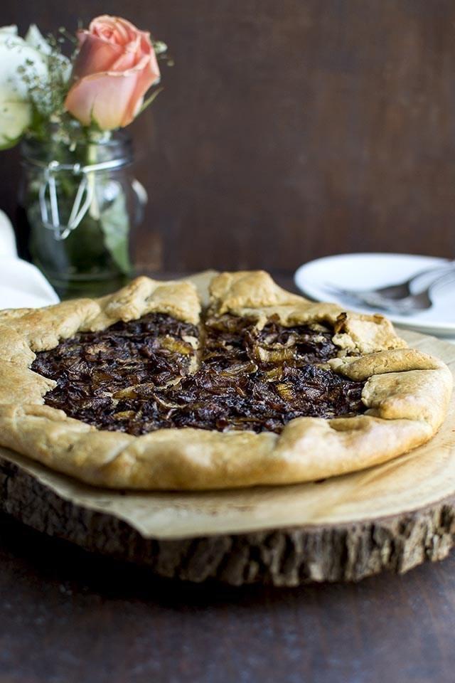 Caramelized Onion Galette Recipe | HeyFood — heyfoodapp.com