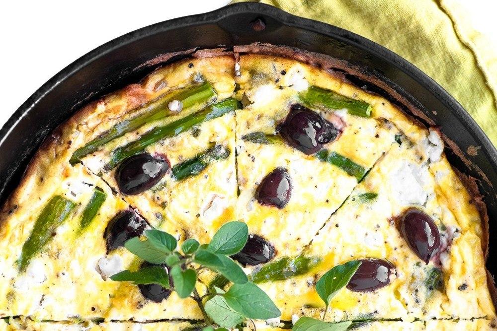 Asparagus and Goat Cheese Frittata Recipe | HeyFood — heyfoodapp.com