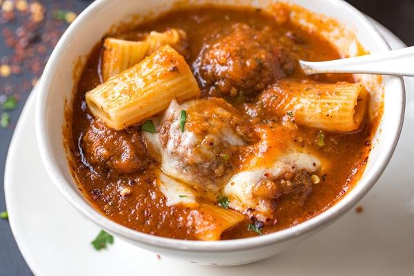 Rigatoni Meatball Soup Recipe | HeyFood — heyfoodapp.com