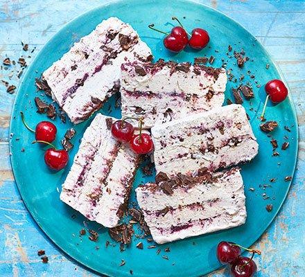 Cherry ripple, chocolate & rose ice cream Recipe | HeyFood — heyfoodapp.com
