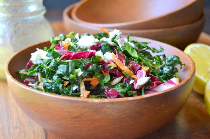Kale Slaw with Lemon Sesame Dressing Recipe | HeyFood — heyfoodapp.com