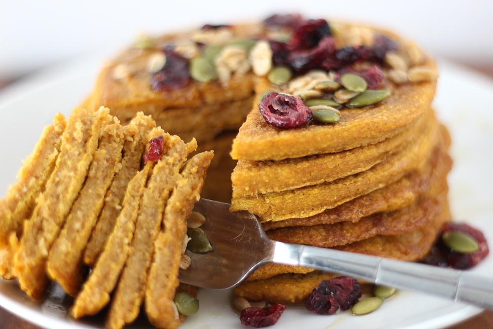 Pumpkin Oat Pancakes  Recipe | HeyFood — heyfoodapp.com