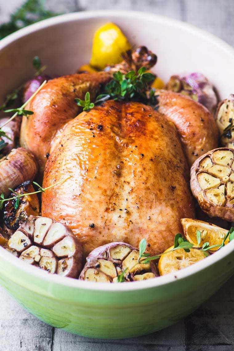 Roast Chicken with Garlic Recipe | HeyFood — heyfoodapp.com