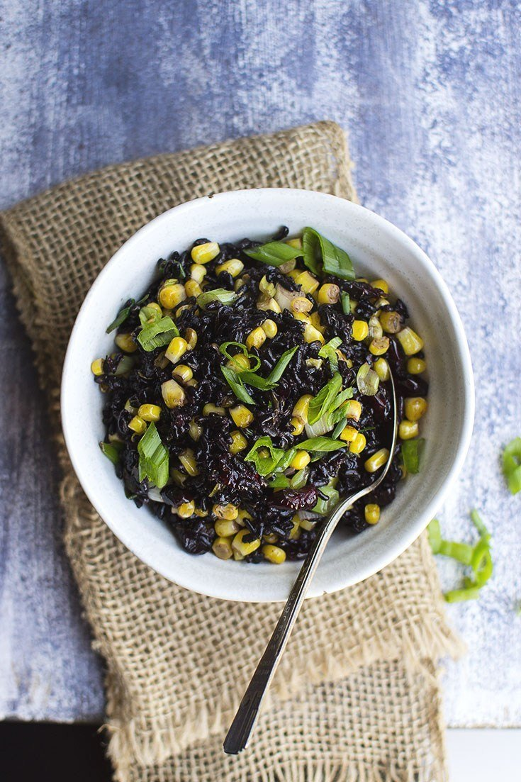 Black Rice and Corn Salad Recipe | HeyFood — heyfoodapp.com