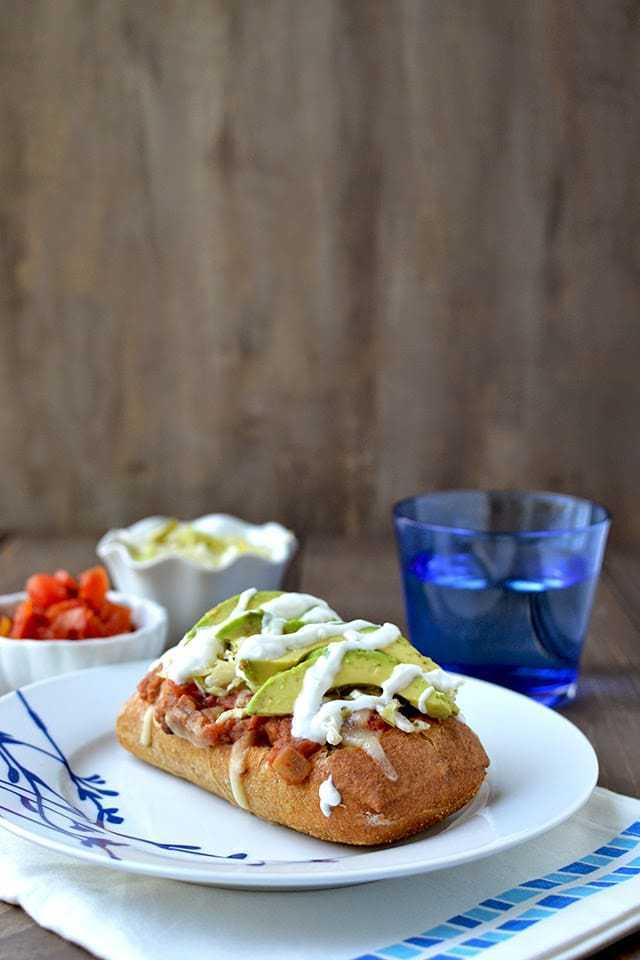 Vegetarian Molletes - Mexican Open Face Sandwich Recipe | HeyFood — heyfoodapp.com