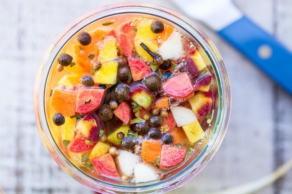 Quick Pickled Rainbow Carrots Recipe   HeyFood — heyfoodapp.com