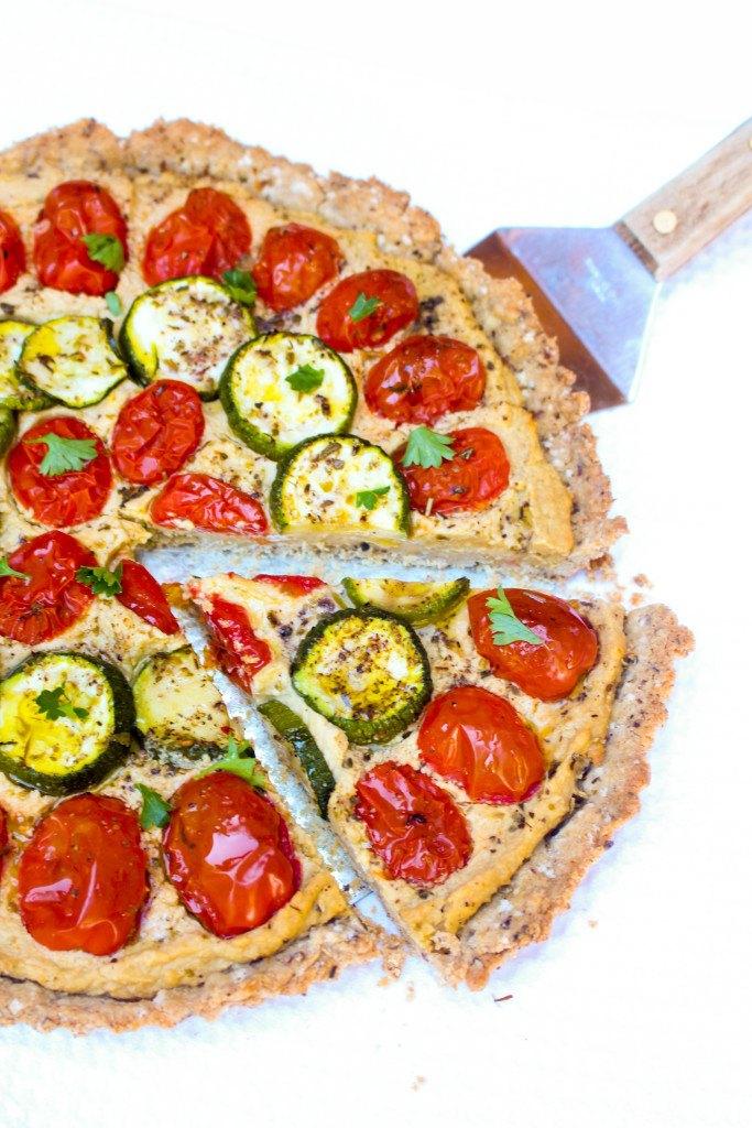 Tomato Zucchini + Hummus Tart Recipe | HeyFood — heyfoodapp.com