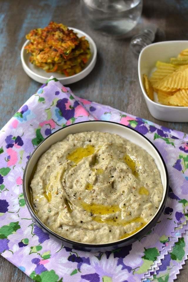 Motabel (Smokey Eggplant & Tahini dip) Recipe | HeyFood — heyfoodapp.com