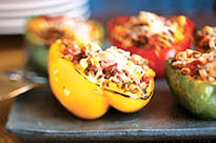 Tri-Colour Stuffed Peppers Recipe | HeyFood — heyfoodapp.com