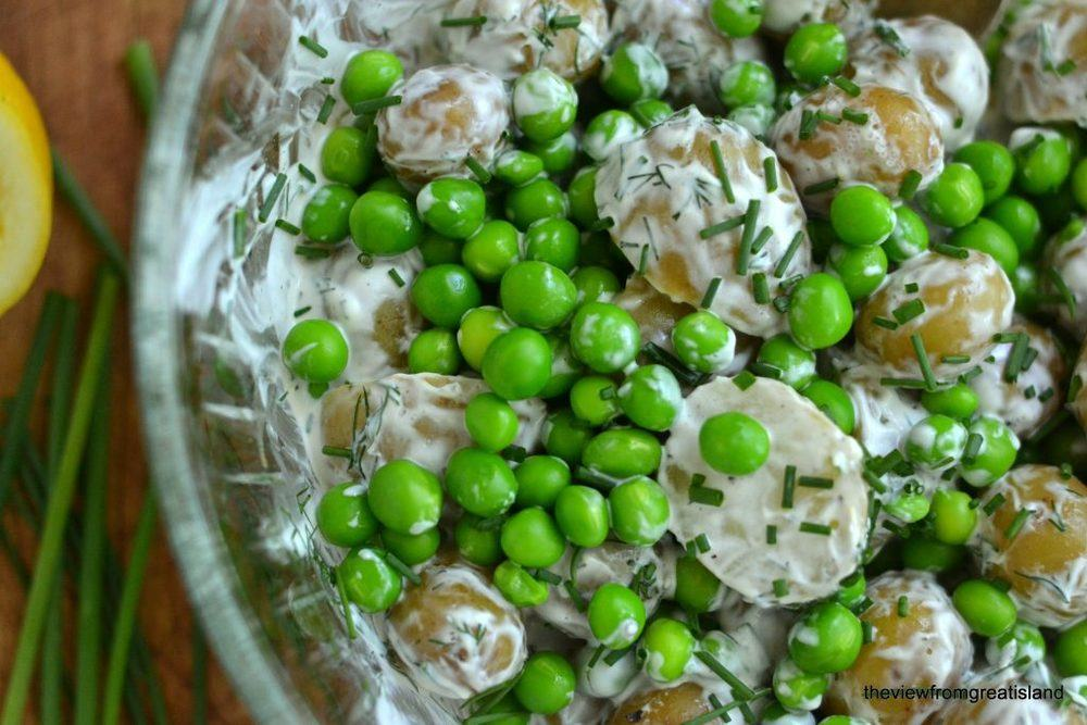 New Potato and Sweet Pea Salad Recipe | HeyFood — heyfoodapp.com