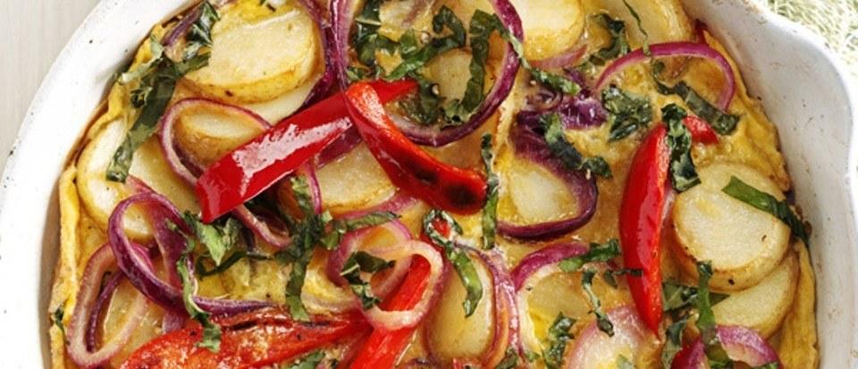 Spanish pepper and potato omelette Recipe | HeyFood — heyfoodapp.com