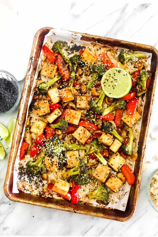 Sheet Pan Chinese Cashew Tofu Recipe | HeyFood — heyfoodapp.com