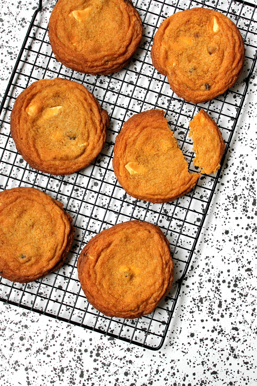 Raspberry & White Chocolate Cookies (V) Recipe | HeyFood — heyfoodapp.com