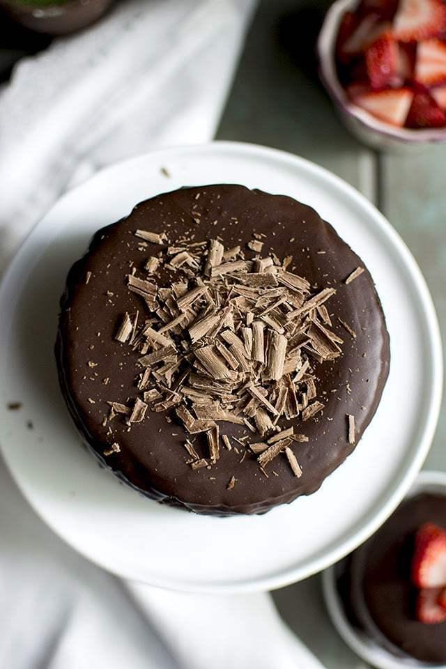 Vegan Chocolate Cake with Chocolate Filling & Ganache Recipe | HeyFood — heyfoodapp.com