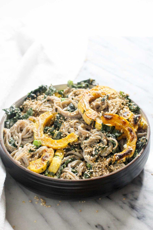 Delicata Squash and Kale Soba Noodle Salad Recipe | HeyFood — heyfoodapp.com