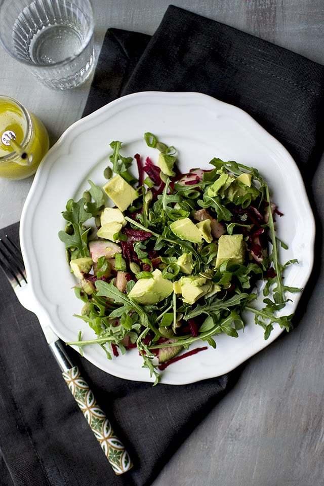 Detox Salad with Beets, Avocado & Arugula Recipe | HeyFood — heyfoodapp.com