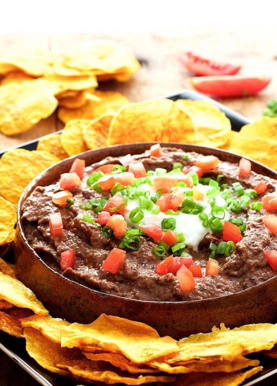 Smokin' Chipotle Black Bean Dip with Oil-Free Butternut Squash Chips Recipe | HeyFood — heyfoodapp.com
