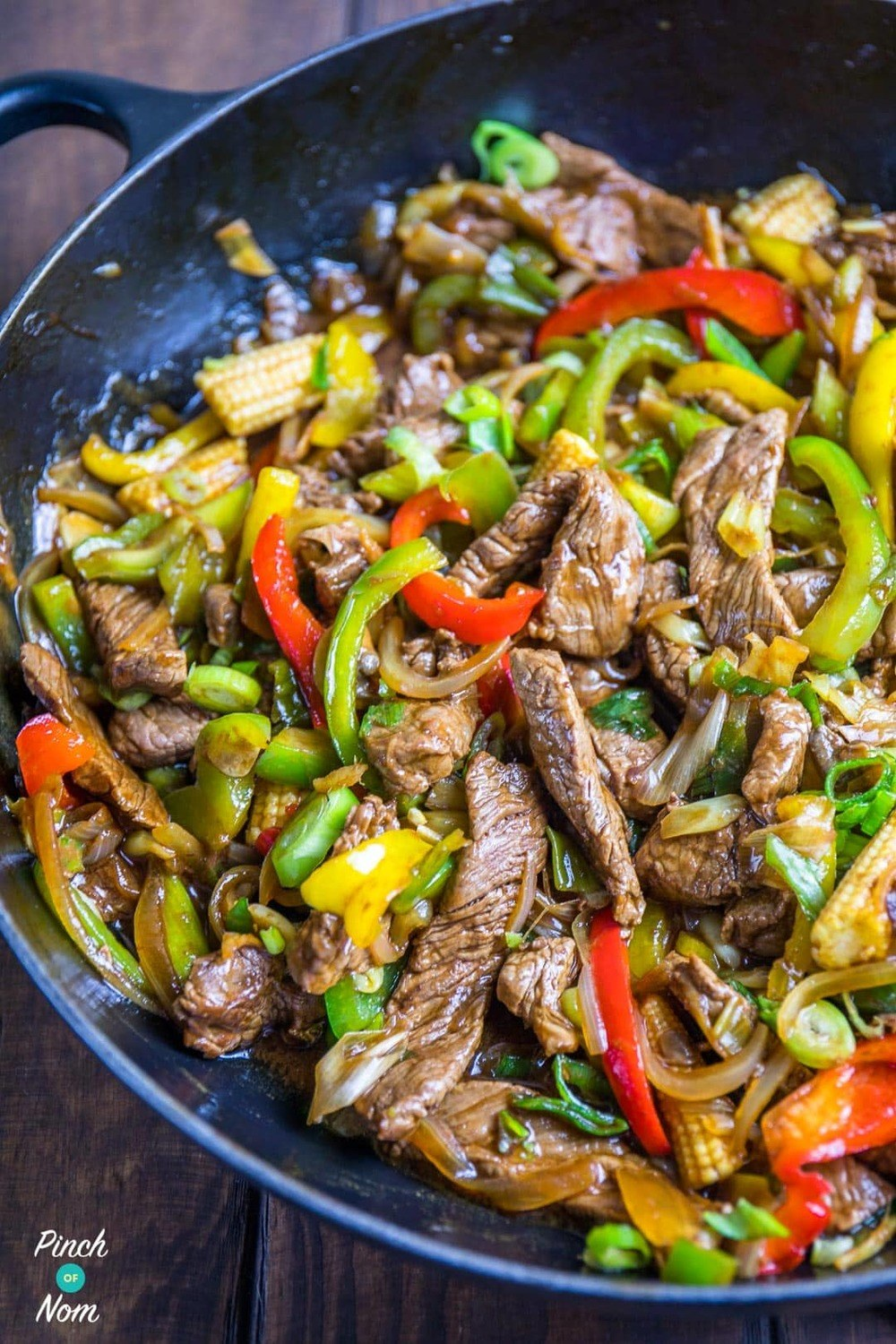 Stir-fried Beef With Ginger And Spring Onion Recipe | HeyFood — heyfoodapp.com