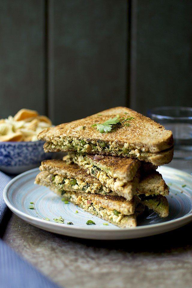 Paneer Spinach Sandwich Recipe | HeyFood — heyfoodapp.com