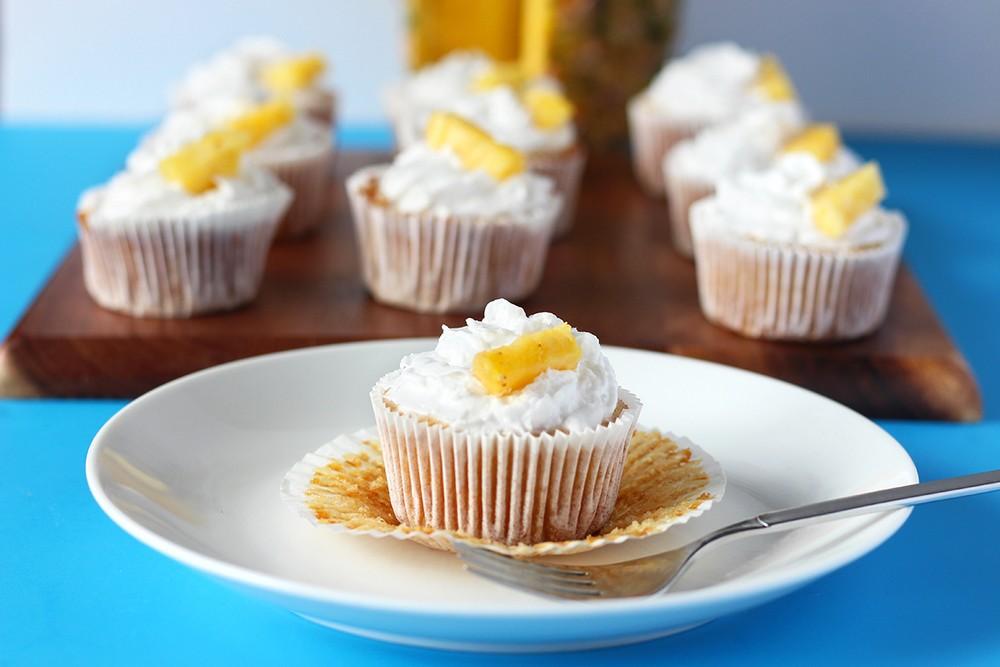 Vegan Pineapple Cupcakes Recipe | HeyFood — heyfoodapp.com